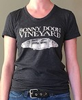 Women's Bonny Doon Vineyard Logo T-shirt - Heather Black